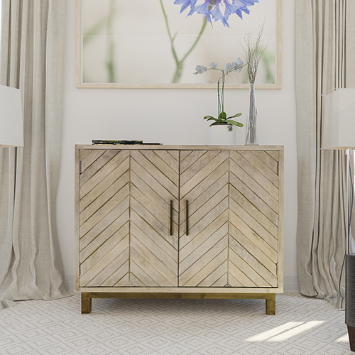 Ashdla Natural Accent Cabinet
