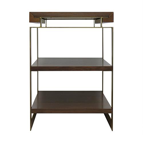 Duette Rich Nut Brown Chairside Table
