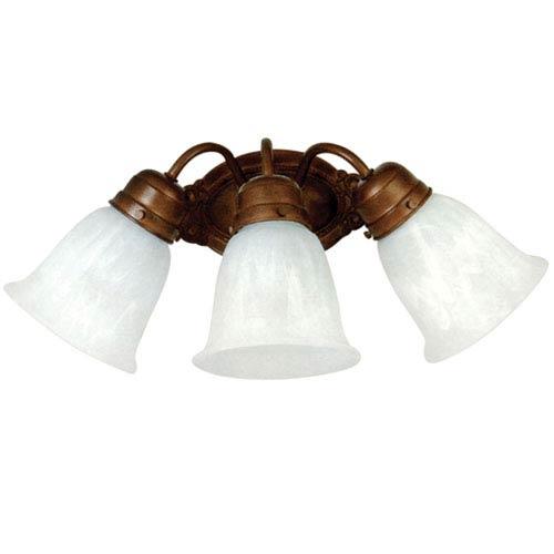 Dark Brown Three-Light Vanity Light