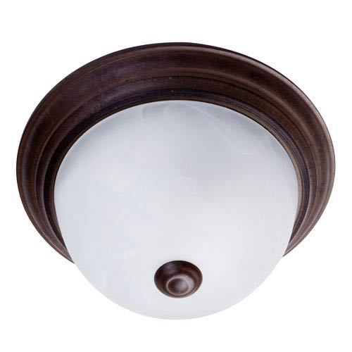 Dark Brown One-Light Flush Mount