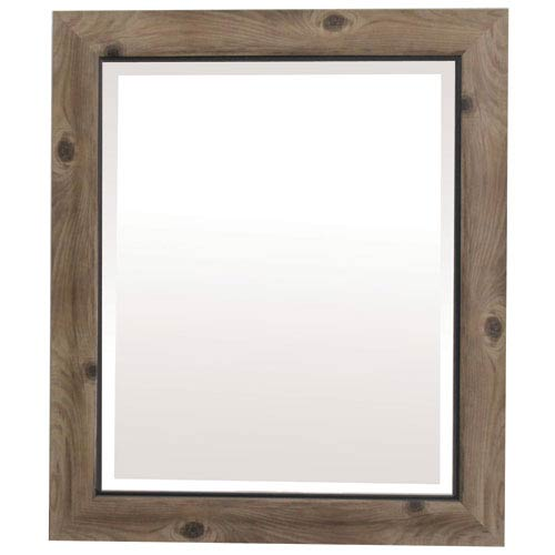 Gray and Black 27-Inch Tall Framed Mirror
