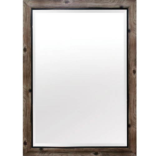Gray and Black 43-Inch Tall Framed Mirror