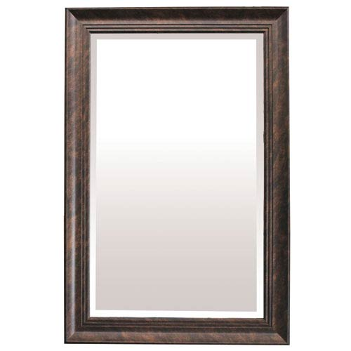 Dark Bronze 36-Inch Tall Framed Mirror