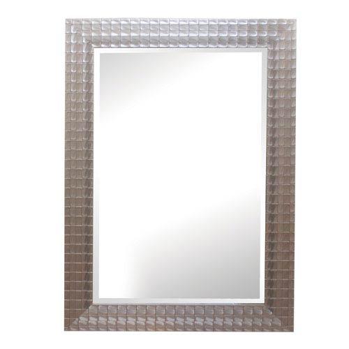 Silver/Gold Iridescent Blocks 43-Inch Tall Framed Mirror