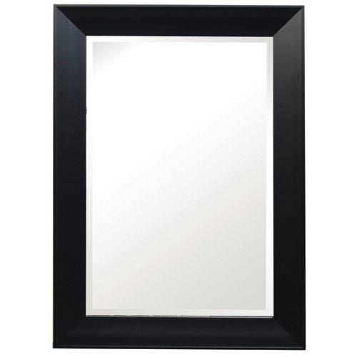 Black 43-Inch Tall Framed Mirror