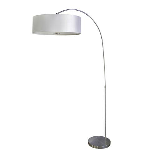 Satin Steel One-Light Floor Lamp