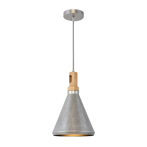 Gris Plateado Silver Grey One-Light Mini Pendant