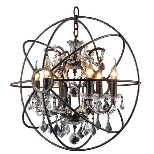 Groveland Rustic Six-Light Chandelier