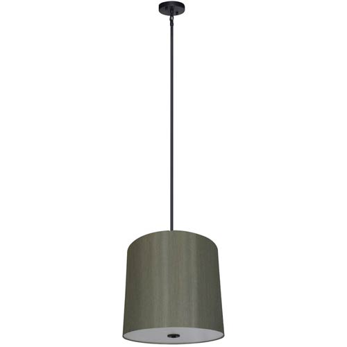 Yosemite Home Decor Lyell Forks Ebony Bronze Five Light 22-Inch Drum Pendant with Toffee Crunch Shade