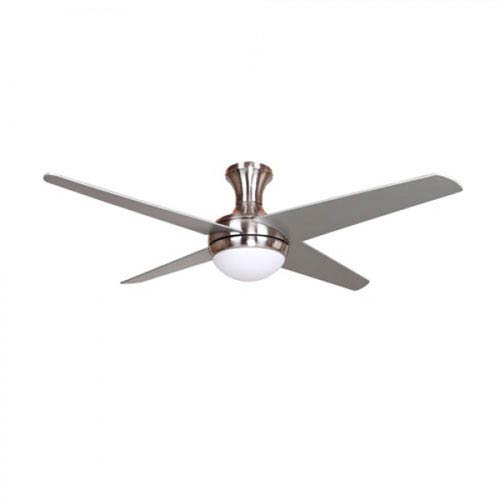 Taysom 52-Inch One-Light Indoor Bright Brush Nickel Ceiling Fan