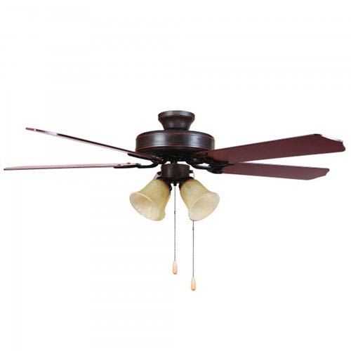 Yosemite Home Decor Westfield Four-Light 52-Inch Oil Rubbed Bronze Indoor Ceiling Fan