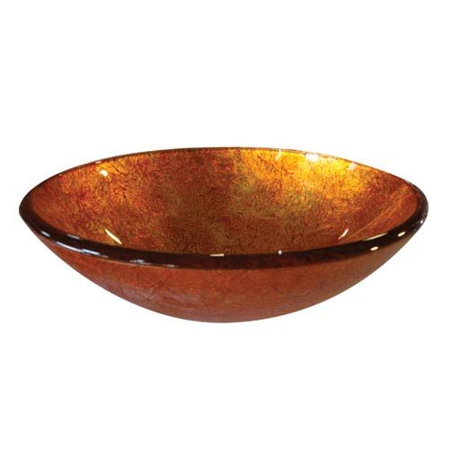 Yosemite Home Decor Sunrise Round Glass Basin
