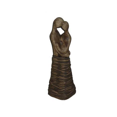 Light Brown 13.5-Inch Tall Ceramic Statue