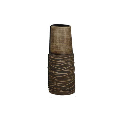 Light Brown 14-Inch Tall Vase