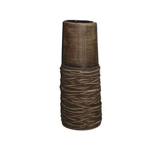 Light Brown 16-Inch Tall Vase