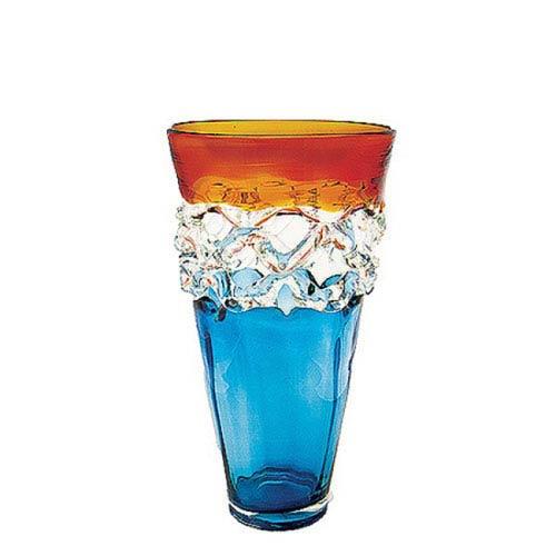 Multi Colored Blown Glass Vase Bellacor