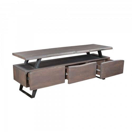 Grey Wood Media Cabinet
