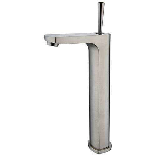 Brushed Nickel Single Handle Vessel Faucet