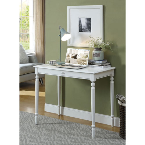 French Country White 30 Inch High Desk
