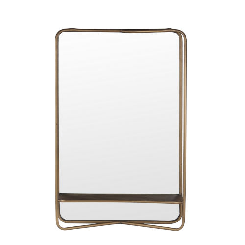 Dark Gold 27.5-Inch Wall Mirror