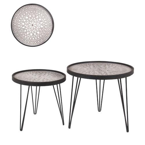 Black 24-Inch Nesting Table, Set of 2
