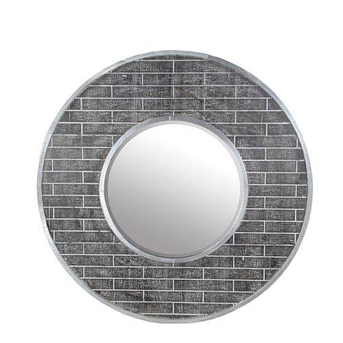 Privilege Round Beveled Aluminum Mirror