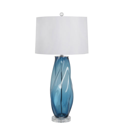 Blue Art Glass Table Lamp