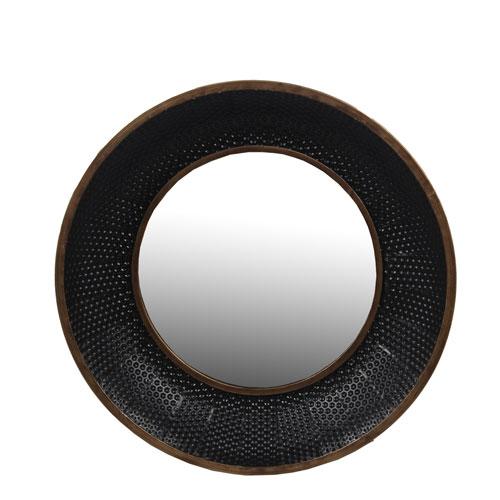 Privilege Black Large Metal Wall Mirror