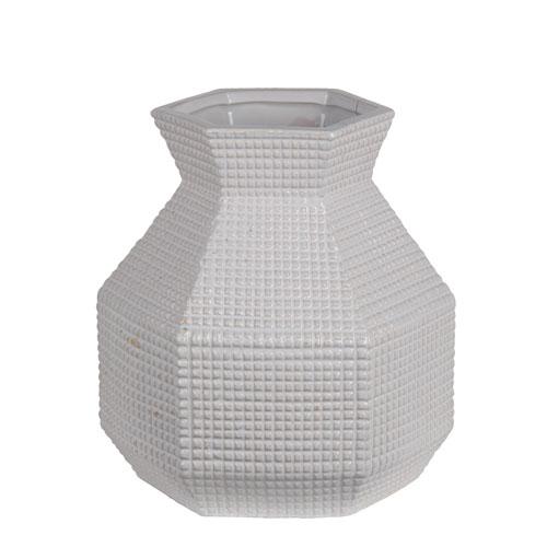 White Medium Ceramic Vase