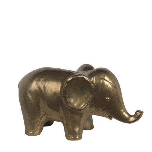 Privilege Gold Large Ceramic Elephant