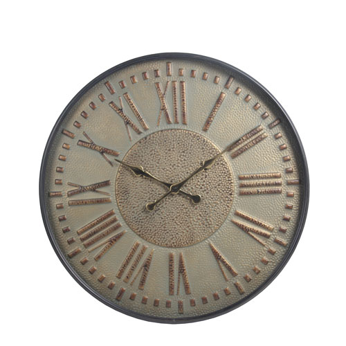 Metal Round Wall Clock with Glass
