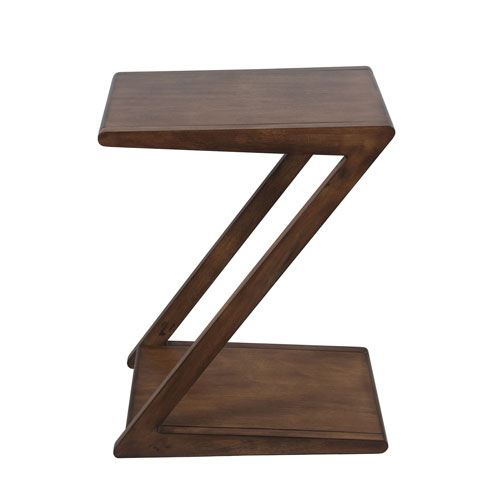 Pecan Z Side Table