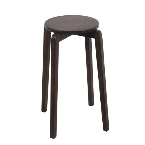 Privilege British Brown Stackable Accent Stool
