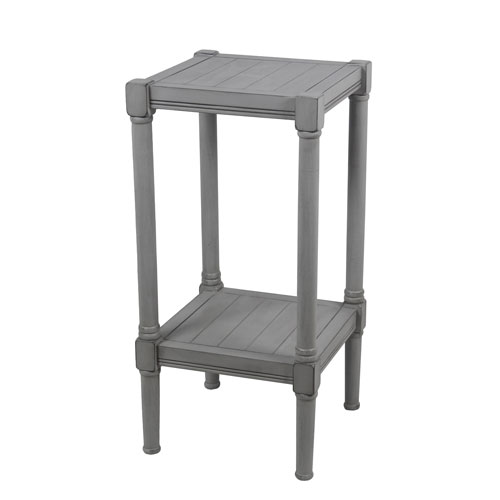 Privilege Dove Grey Square Accent Table