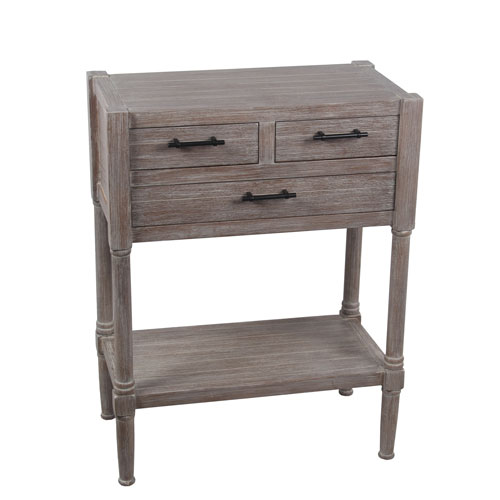 Winter Melody Three-Drawer Accent Table
