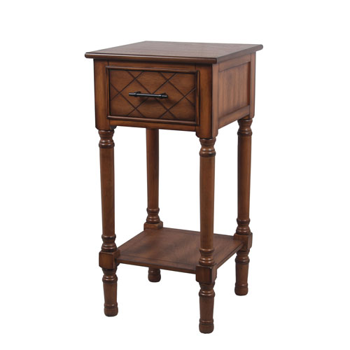 Honeynut One-Drawer Accent Table