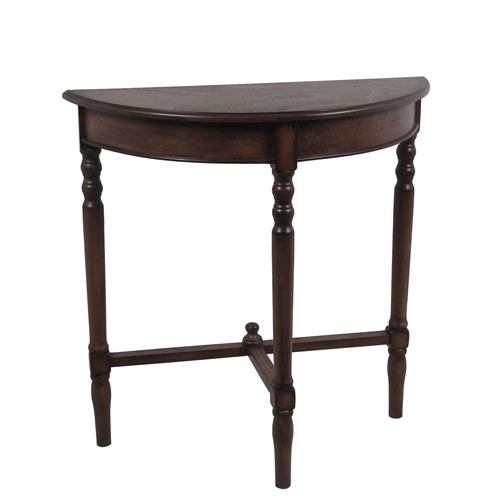 Privilege British Brown Half Round Console