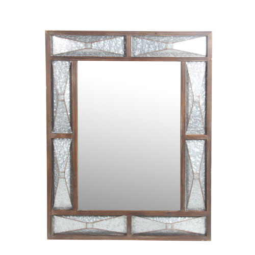 Galvanized Rectangular Wall Mirror
