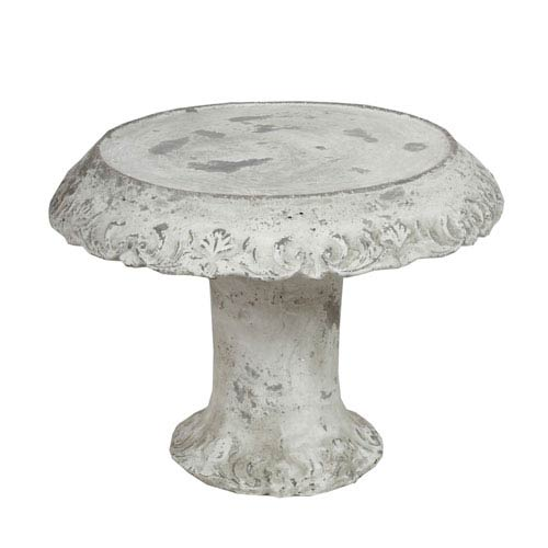 Gray Large Cake Plate