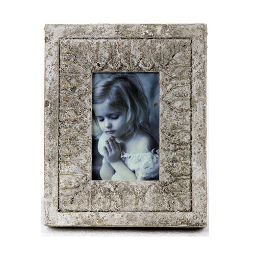 Antique White Ceramic Photo Frame