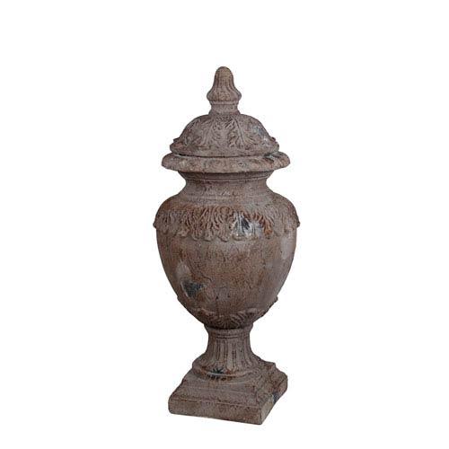 Brown Wash Large Ceramic Urn