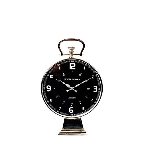 Chrome Aluminum Table Clock