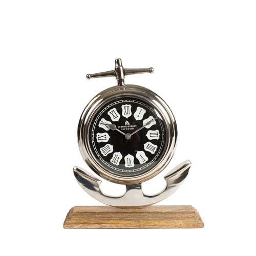 Aluminum and Wood Clock