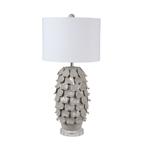 Grey Ceramic Shell Lamp