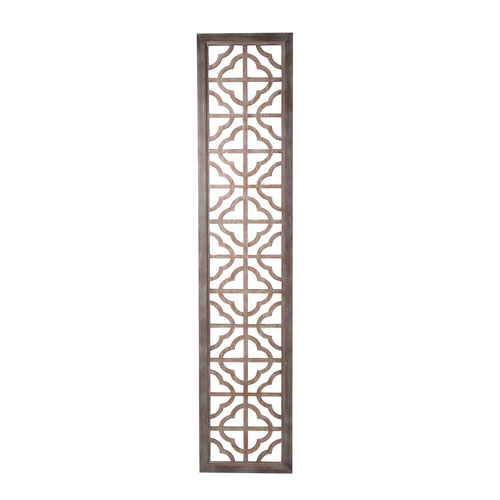 Brown 81-Inch Tall Wooden Screen Panel