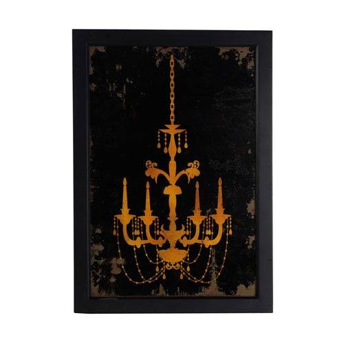 Black Chandelier: 19 x 26.5-Inch Wall Art