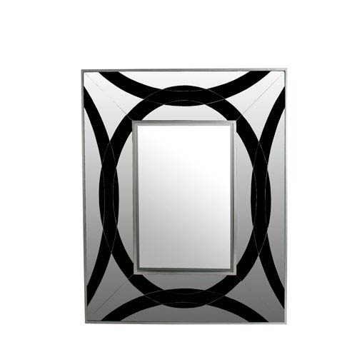 Black and Clear Rectangle Mirror