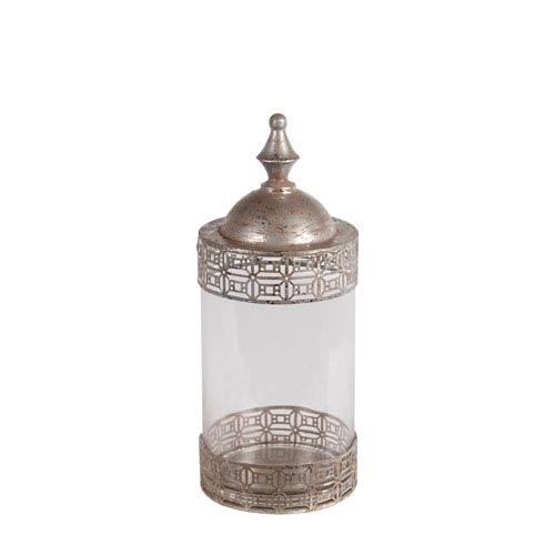 Silver Large Metal Jar