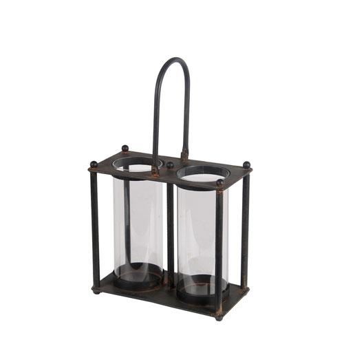 Black Double Iron Lantern