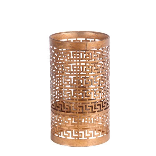 Gold Medium Iron Candleholder